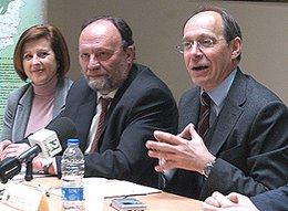 El consejero de Medio Ambiente, José Juan Díaz Trillo, durante la clausura