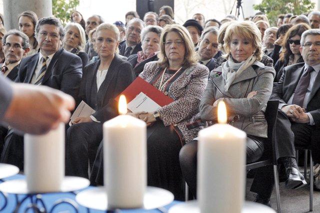 Aguirre en los actos de homenaje al Holocausto