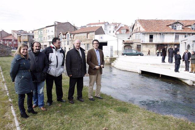 Canalización del arroyo.