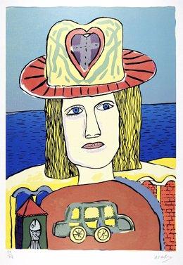 Una de las obras de Fernández Molina que pueden verse en Fuendetodos