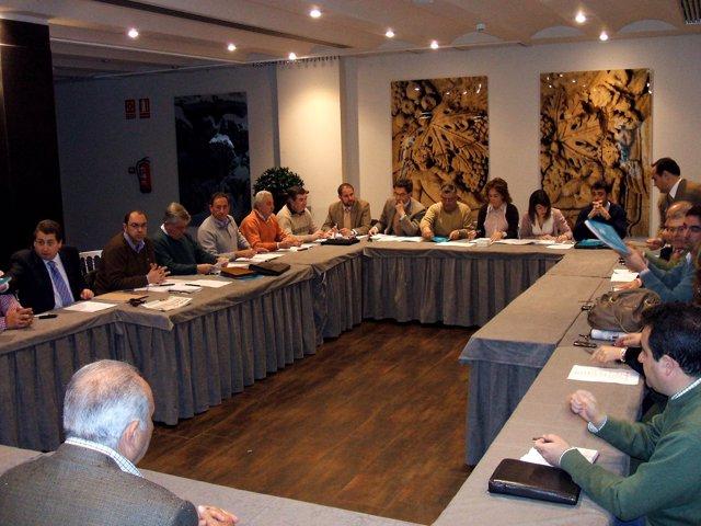Reunión de la junta directiva de Feragua en Mengíbar (Jaén)