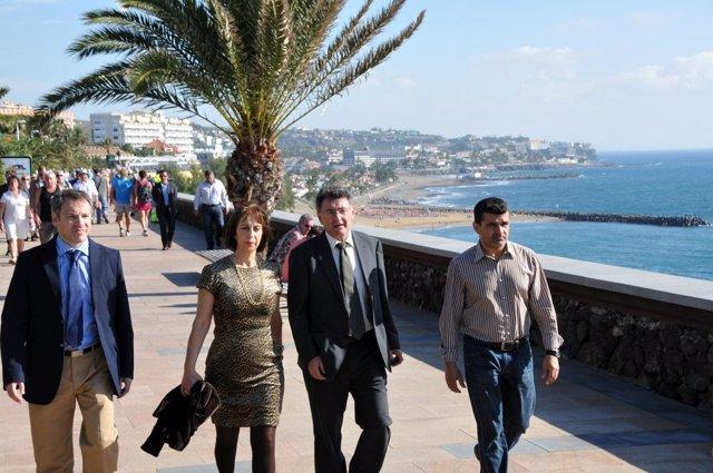 Alcaldesa de San Bartolomé de Tirajana (Gran Canaria), Mari Pino Torres, visitan