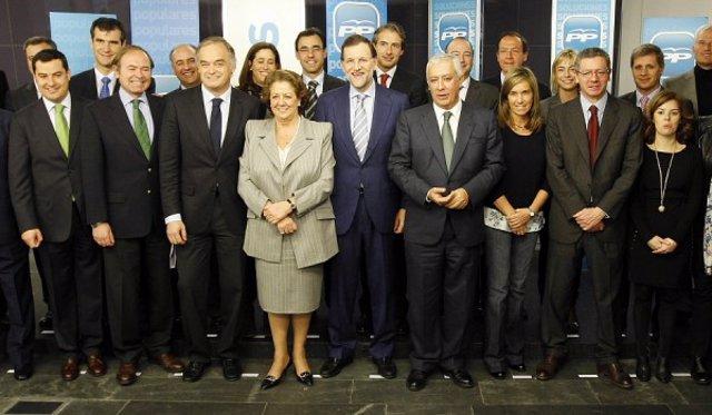 Alcaldes del PP se reúnen con Rajoy