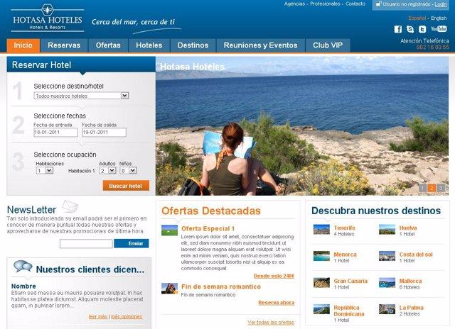 Nueva Web De Hotasa Hoteles