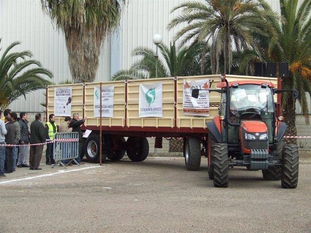 NOTA CONCURSO MANIOBRABILIDAD DE TRACTOR CON REMOLQUE AGROEXPO 2011