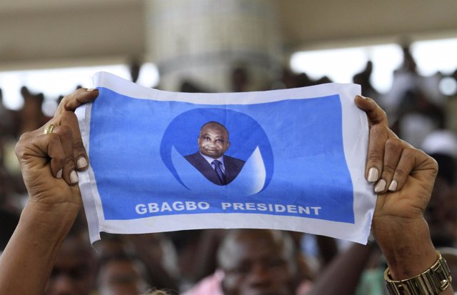 Partidarios del Presidente de Costa de Marfil, Laurent Gbagbo