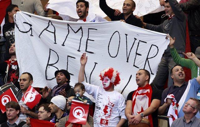 Protestas en Túnez contra Abidine Ben Alí