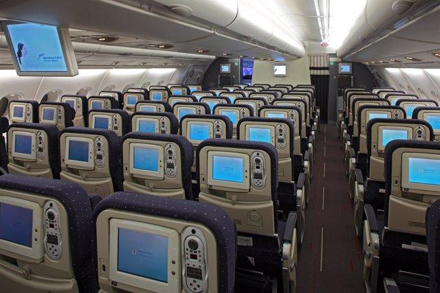 asientos con pantallas para ver programas de Air France