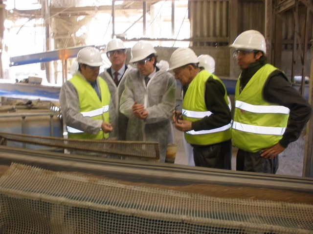Visita de la Junta a la empresa Fertisac, en Atarfe (Granada)