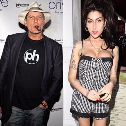 Charlie Sheen y Amy Winehouse