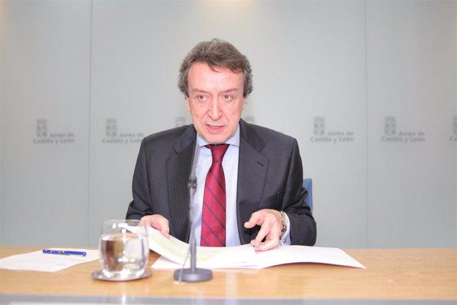 El portavoz de la Junta de Castilla y León, José Antonio de Santiago-Juárez