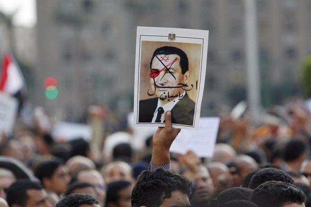 Imagen del presidente egipcio, Hosni Mubarak