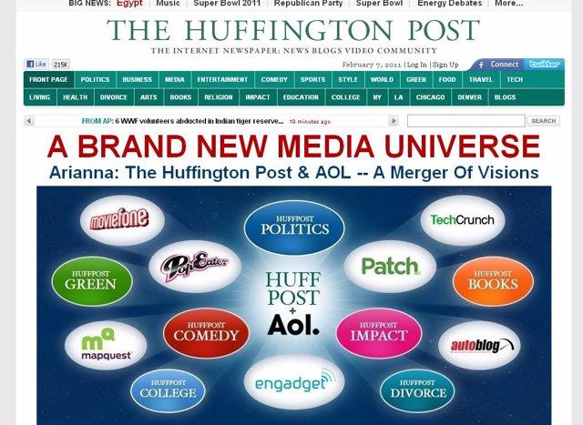 AOL compra el sitio web The Hunffington Post