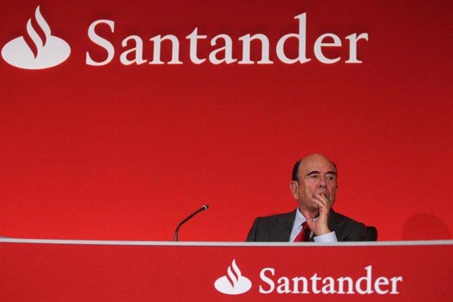 Presidente del Banco Santander, Emilio Botín
