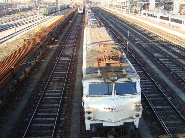 Tren de mercancías de Renfe que unirá CyL con Nantes (Francia).