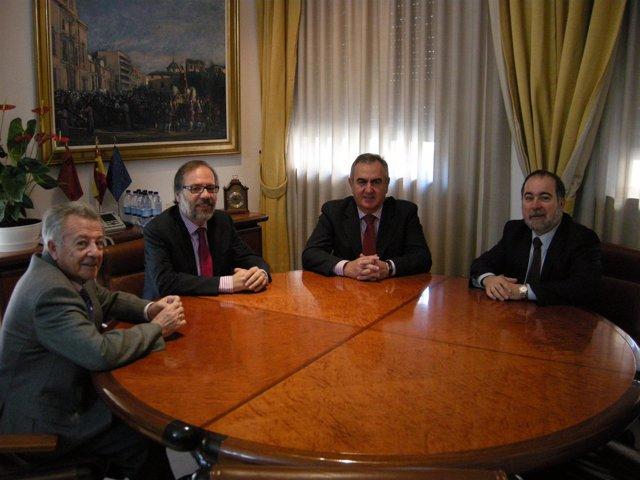 Francisco Faraco, José Luque, Rafael González Tovar y Francisco Vázquez
