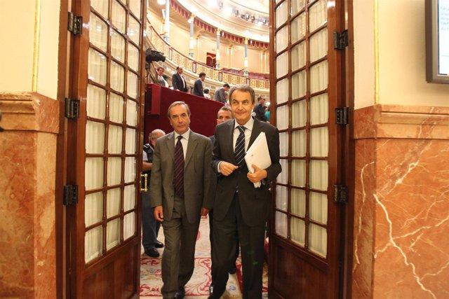 Zapatero y Alonso en el Congreso