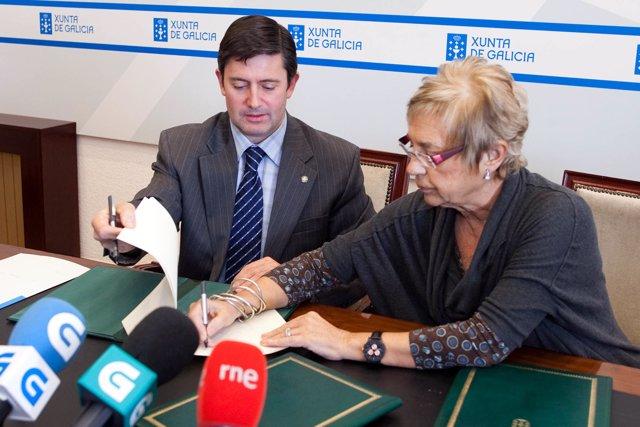 O titular do Medio Rural asinará un convenio de colaboración con Rosalía Mera, d