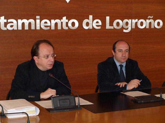 Vicente Urquía y Carlos Navajas en rueda de prensa