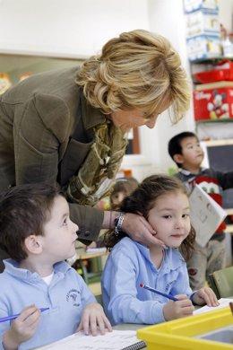 Aguirre en una escuela infantil
