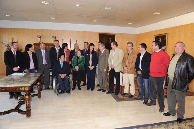 Participantes en el programa 'Biblioteca Abierta' de la Junta y la DIputación de