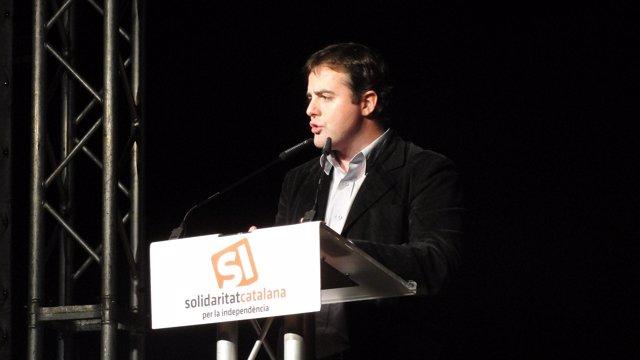 Uriel Bertran (SI) en el inicio de la campaña a las catalanas