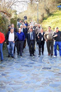 Inauguración de viales en Villacarriedo
