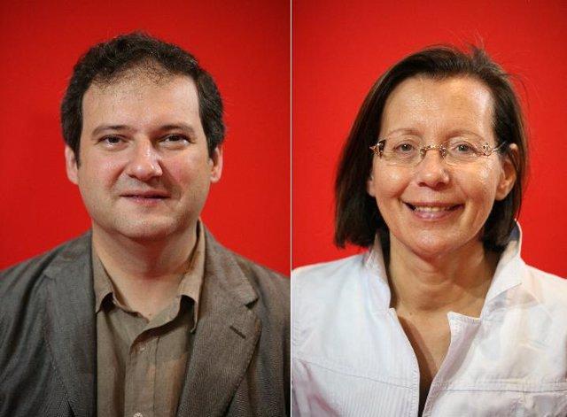 Jordi Hereu y Montserrat Tura. Primarias de Barcelona.
