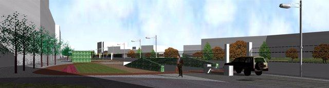 Imagen del proyecto de peatonalización y Parking Mariano Granados y Paseo del Es