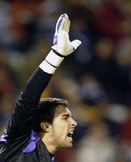 El portero del Atlético de Madrid Sergio Asenjo