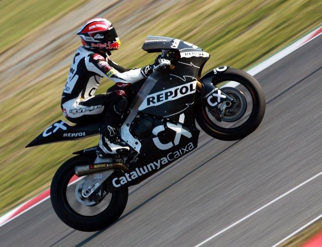 Marc Márquez entrena en Moto2