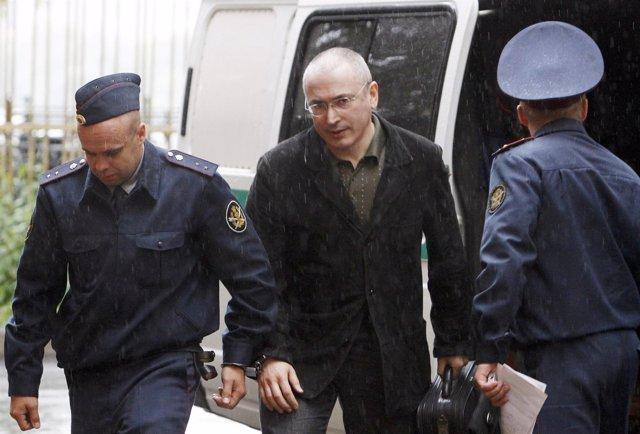 El magnate del petroleo ruso Jodorkovski