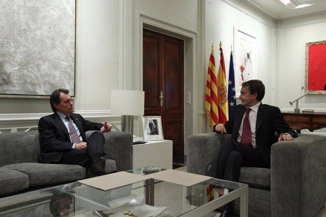 Zapatero y Mas en la Moncloa