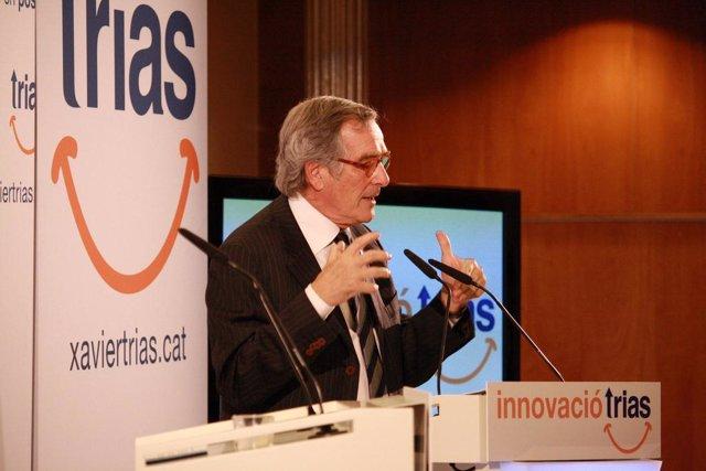 Xavier Trias presentando propuestas de innovación