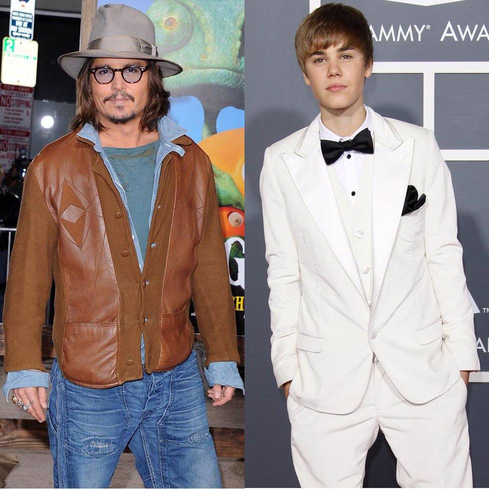 Johnny Depp y Justin Bieber