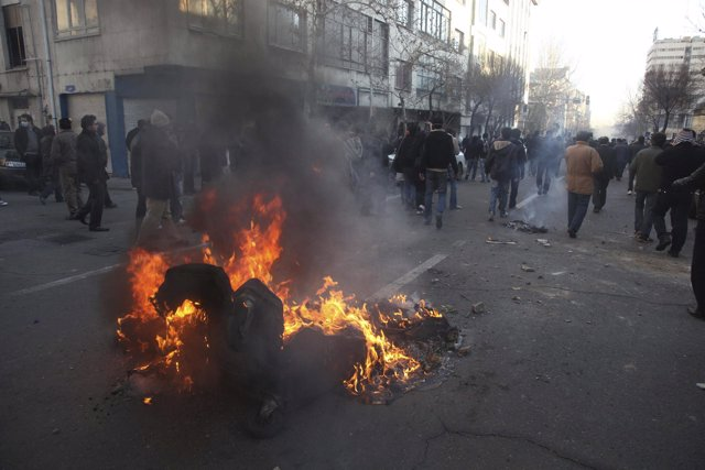 Manifestación antigubernamental en Irán