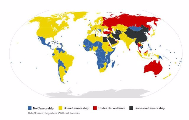 Mapa de la censura en Internet