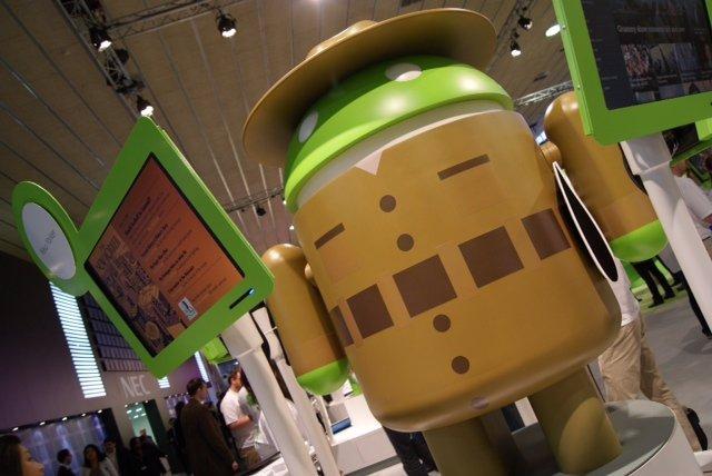muñeco de Android en el MWC