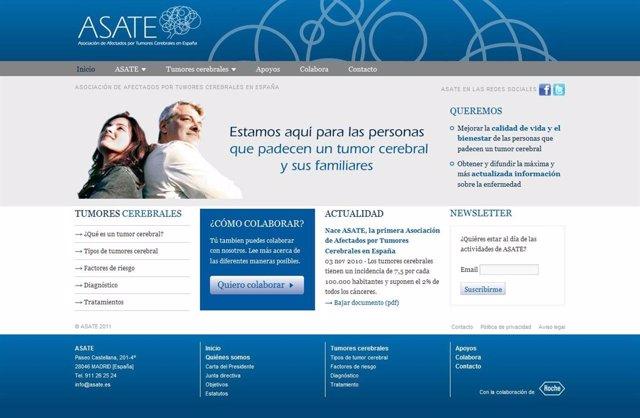 asate, pagina web, afectados por tumores cerebrales