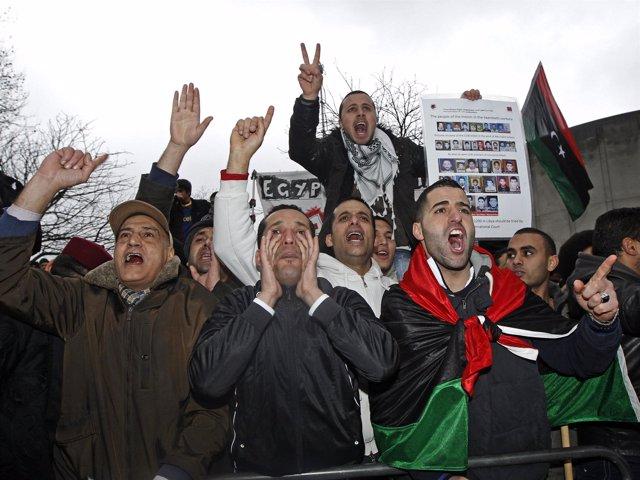 Protestas en Libia