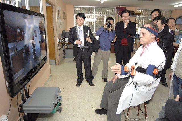 visita de coreanos a Parapléjicos