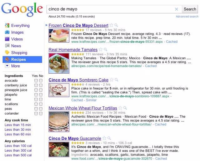 Buscador de recetas 'Recipe View'.