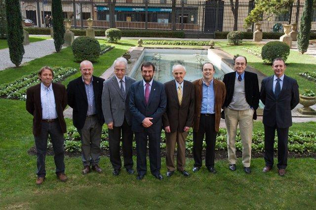 Miembros del jurado del Premio Príncipe de Viana de la Cultura 2011.