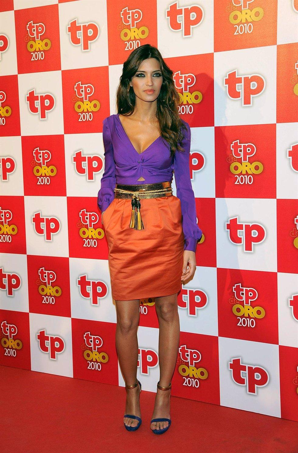 Posado de Sara Carbonero en la entrega de los TP de Oro de 2011