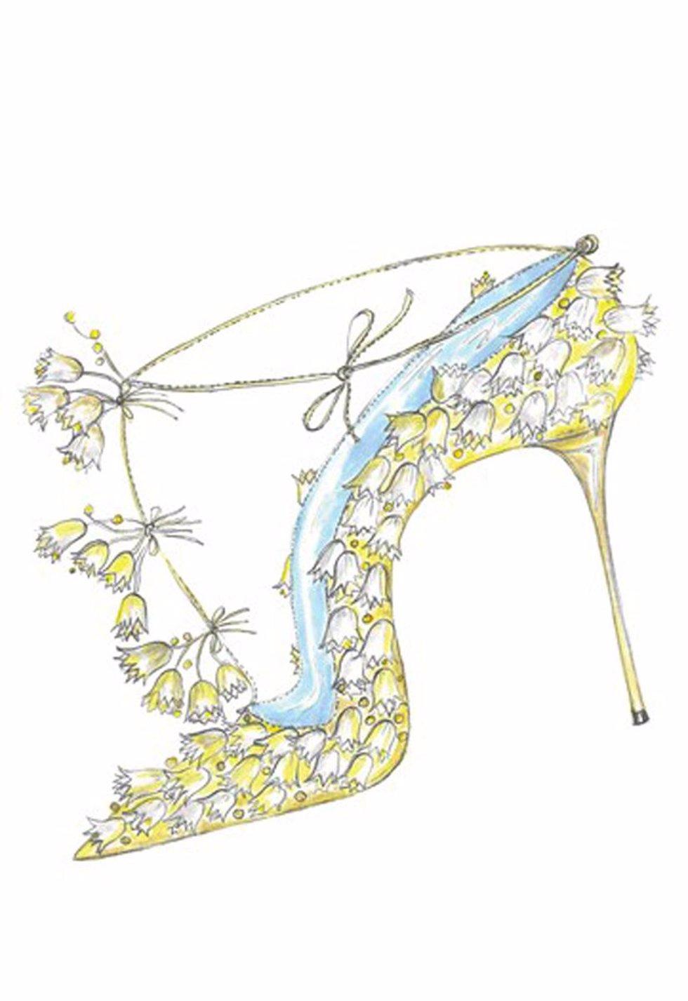 Diseño de Manolo Blahnik para los posibles zapatos nupciales de Kate Middleton