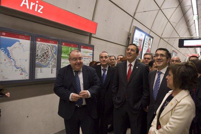 Inauguración de la estación de Ariz