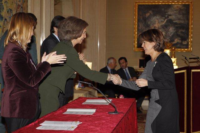 Barcina recibe el premio Reina Sofía 2010.