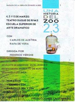 Cartel de la representación de 'Una historia del Zoo 2.3'