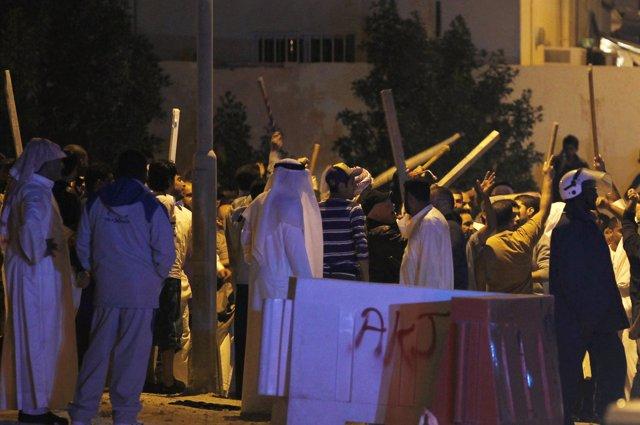 enfrentamientos entre suníes y chiíes en Bahréin