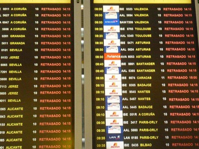 Retrasos de vuelos en Barajas